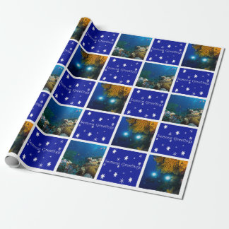 Great Barrier Reef Coral Sea Christmas Wrapping Paper
