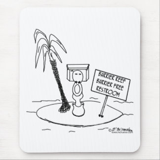Great Barrier Reef Free Restroom Mouse Pad
