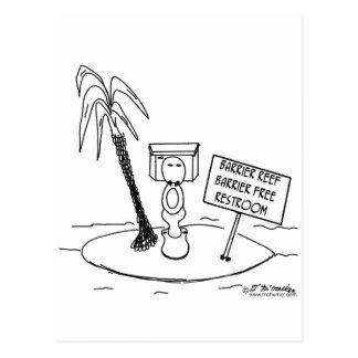 Great Barrier Reef Free Restroom Postcard