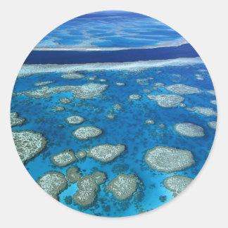 Great Barrier Reef Marine Park Queensland AU Classic Round Sticker