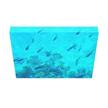 Beach Themed Great Barrier Reef Tropical Fish Canvas Print