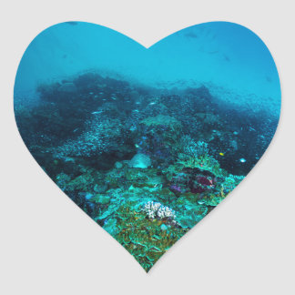 Great Barrier Reef Tropical Fish Coral Sea Heart Sticker