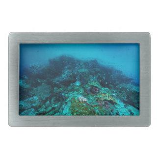 Great Barrier Reef Tropical Fish Coral Sea Rectangular Belt Buckle