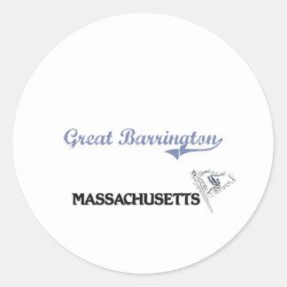 Great Barrington Massachusetts City Classic Classic Round Sticker
