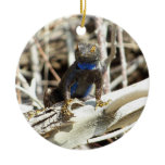 Great Basin Fence Lizard at Joshua Tree Photo Ceramic Ornament