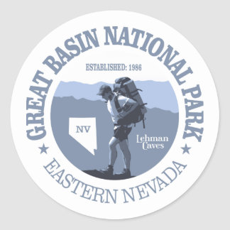 Great Basin National Park Classic Round Sticker