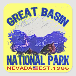 Great Basin National Park, Nevada Square Sticker