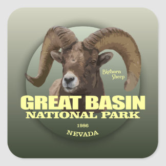 Great Basin NP (Bighorn) WT Square Sticker
