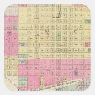 Great Bend, Albert, Kansas Square Sticker