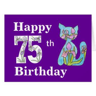 Great Big 75th Birthday Iris Card