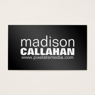 Great big words black and white business cards
