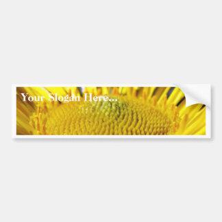Great Big Yellow Flower Macro Image Car Bumper Sticker