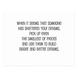 "Great, ""Bigger and Better Dreams"" Postcard"