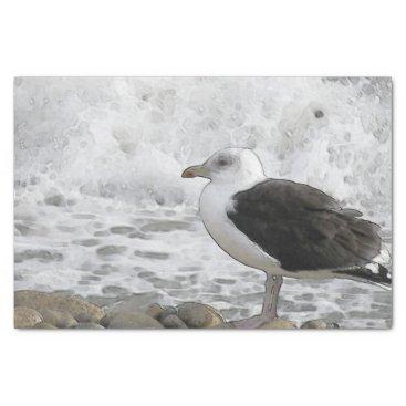 Beach Themed Great Black-Backed Gull Tissue Paper