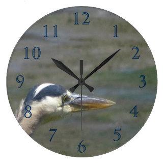 Great Blue Bird Large Clock