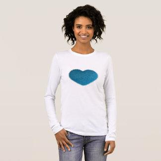 Great Blue Heart. Long Sleeve T-Shirt