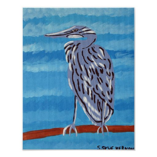 Great Blue Heron -11x14 Poster