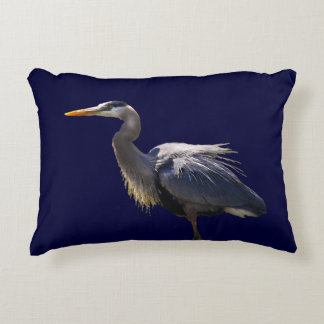 Great Blue Heron Accent Pillow