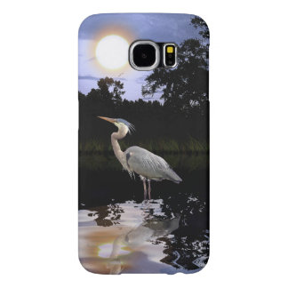 Great Blue Heron and Wilderness Pond Samsung Galaxy S6 Cases