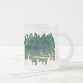 Great Blue Heron - Ardea herodias Frosted Glass Coffee Mug