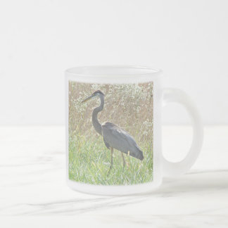 Great Blue Heron - Ardea herodias 10 Oz Frosted Glass Coffee Mug