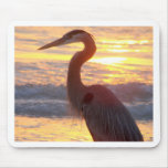 Great Blue Heron at Sunset Mousepad