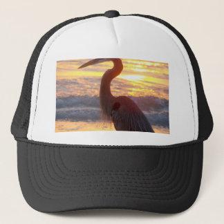 Great Blue Heron at Sunset Trucker Hat