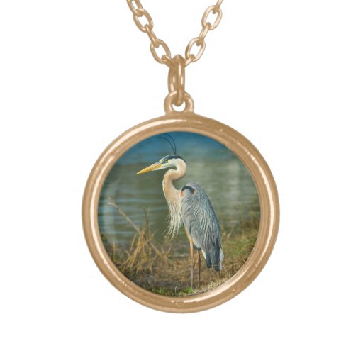 Great Blue Heron at the Pond Custom Jewelry