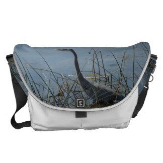 Great Blue Heron at Viera Wetlands Messenger Bag