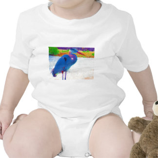 Great Blue Heron Baby Bodysuits