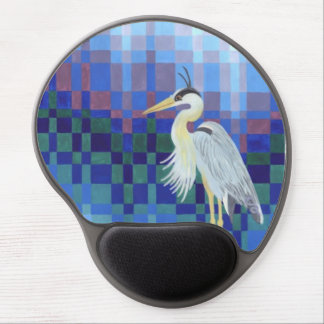Great Blue Heron Bargello Gel Mouse Pad