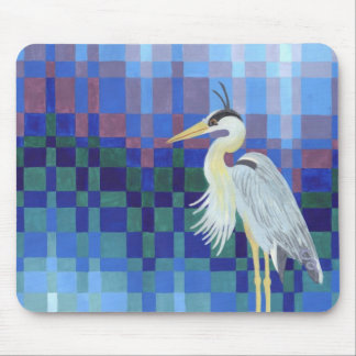 Great Blue Heron Bargello Mouse Pad