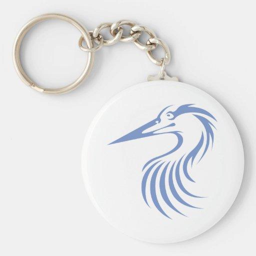 Great Blue Heron Basic Round Button Keychain