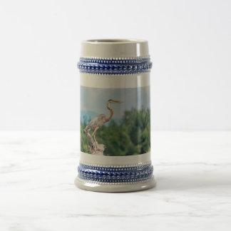 Great Blue Heron Beer Stein