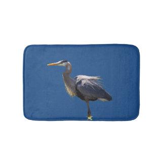 Great Blue Heron Bird Bath Mats