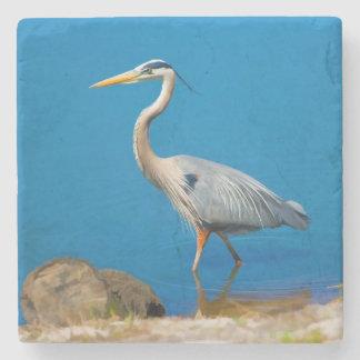 Great Blue Heron Bird Stone Coaster