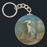 "Great Blue Heron Bird Keychain<br><div class=""desc"">Standing about four feet tall,  the Great Blue Heron is one of nature&#39;s true wonders.   He makes a very nice and colorful keychain.</div>"