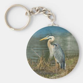 Great Blue Heron Bird Keychain