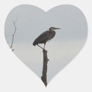 Great Blue Heron Bird Nature Heart Sticker