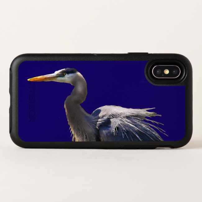 Great Blue Heron Bird OtterBox iPhone X Case