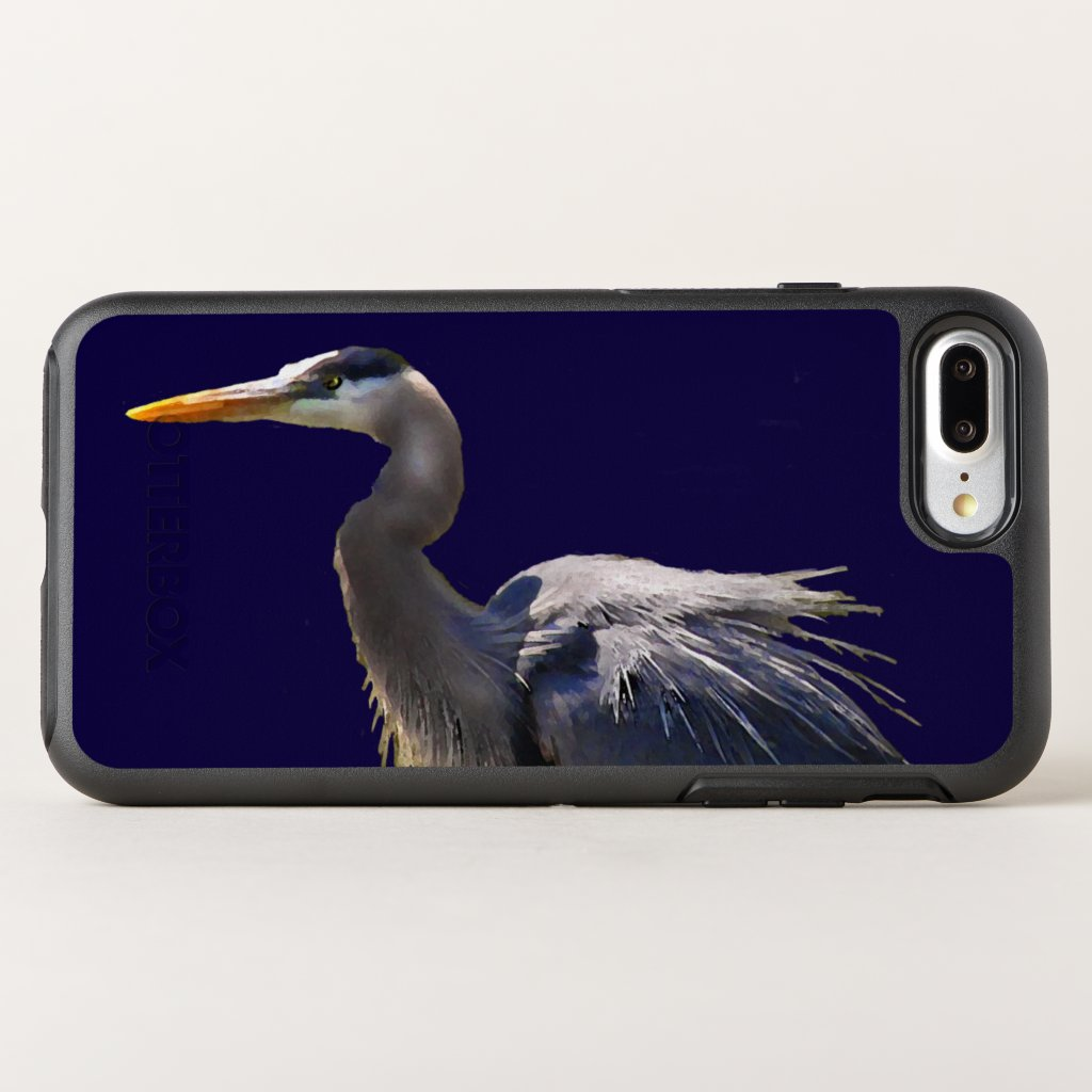 Great Blue Heron Bird OtterBox Symmetry iPhone 7 Plus Case
