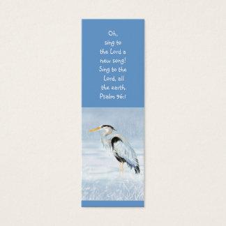Great Blue Heron Bird Scripture Bible Bookmark Mini Business Card