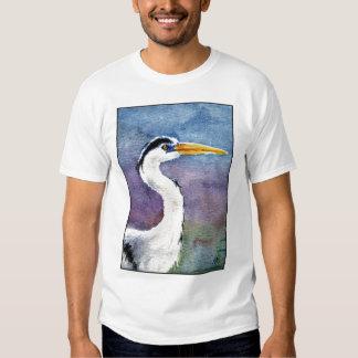 Great Blue Heron bird watcher tee shirt