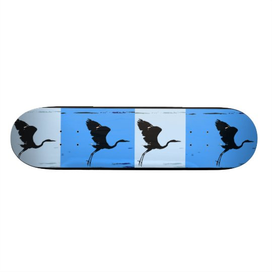 Great Blue Heron Bird Wildlife Animals Skateboard