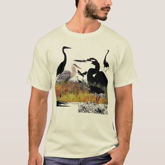 Great Blue Heron Bird Wildlife Animals T-Shirt