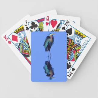 Great Blue Heron Birdlover's Wildlife Design Bicycle Playing Cards