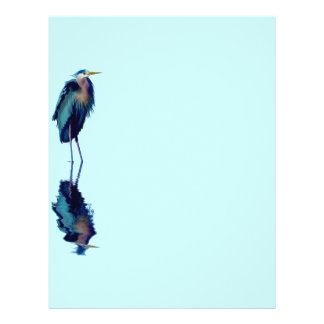 Great Blue Heron Birdlover's Wildlife Design Letterhead
