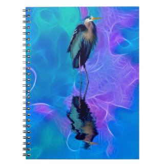Great Blue Heron Birdlover's Wildlife Design Notebook
