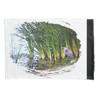 Great Blue Heron Birds Animal Wildlife Pillowcase