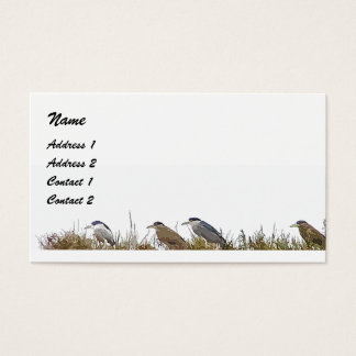 Great Blue Heron Birds Wildlife Animals Business Card